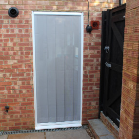 Mesh Strip Door Fly Screen with PVC Header (Made-to-Measure)