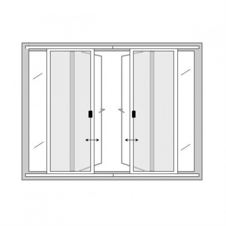 Butted Double Sliding Fly Screens for Doors (DIY Kit)