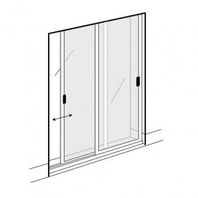 Double Sliding Fly Screens for Doors (DIY Kit)