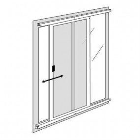 Single Sliding Pollution Filter for Patio Doors (DIY Kit)