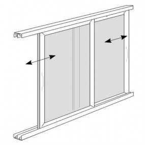 Twin Sliding Solar Screen for Windows (DIY Kit)