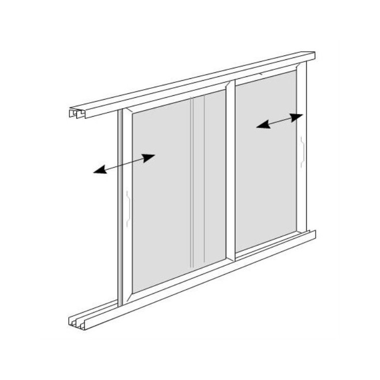 Twin Sliding Solar Screen for Windows (Made-to-Measure)