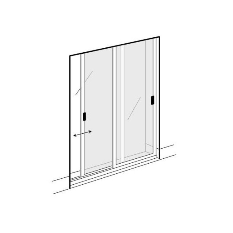 Double Sliding Solar Screen for Doors (DIY Kit)
