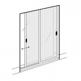 Double Sliding Solar Screen for Doors (Made-to-Measure)